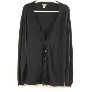 Willow Bay button down sweater/cardigan 3X black